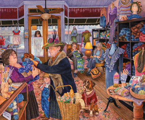 The Yarn Shop Jigsaw Puzzle 1,000 Pieces Susan Brabeau - Mr Puzzle Head