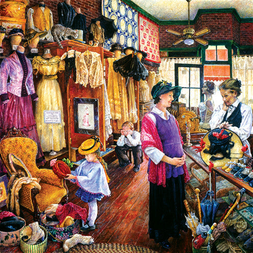 Buying Hats Jigsaw Puzzle 1,000 Pieces Susan Brabeau - Mr Puzzle Head