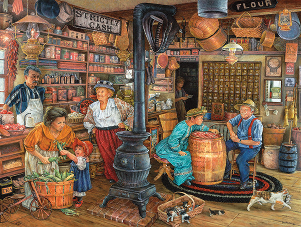 The General Store Jigsaw Puzzle 300 Pieces Susan Brabeau - Mr Puzzle Head