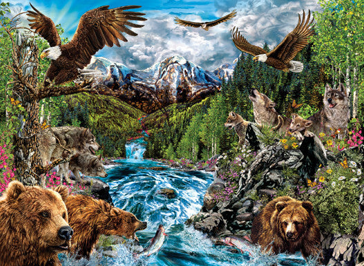 The River of Life Jigsaw Puzzle 1,500 Pieces Stephen Michael Gardner - Mr Puzzle Head