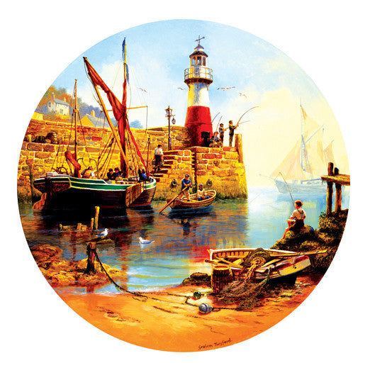 At the Harbor Jigsaw Puzzle  Graham Twyford - Mr Puzzle Head