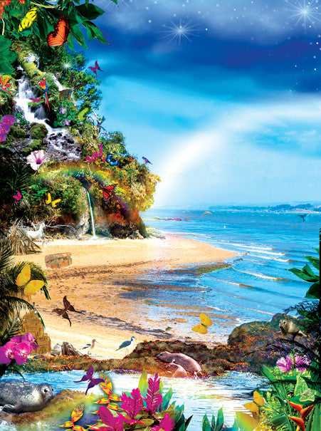 Beach Butterflies Jigsaw Puzzle 1,000 Pieces Alixandra Mullins - Mr Puzzle Head