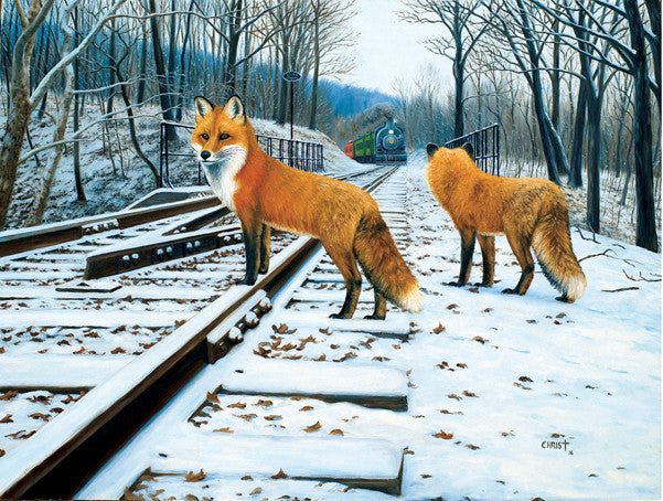 Fox Tracks Jigsaw Puzzle