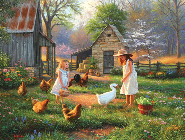 Evening at Grandma's Jigsaw Puzzle 500 Pieces Mark Keathley - Mr Puzzle Head