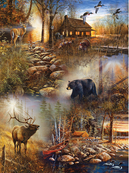 Forest Collage Jigsaw Puzzle 1,000 Pieces Jim Hansel - Mr Puzzle Head