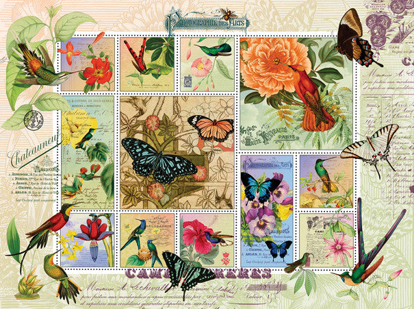 Butterfly and Hummingbird Flight Jigsaw Puzzle