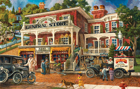 Fannie Mae's General Store Jigsaw Puzzle 1,000 Pieces Tom Antonishak - Mr Puzzle Head