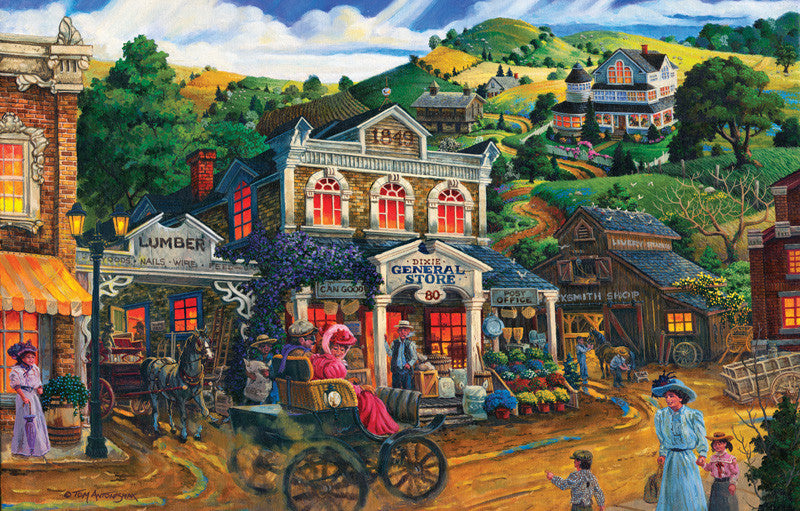 Dixie General Store Jigsaw Puzzle 1,000 Pieces Tom Antonishak - Mr Puzzle Head