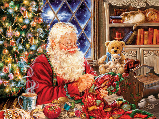 Santa Sew Sweet Jigsaw Puzzle 1,000 Pieces Dona Gelsinger - Mr Puzzle Head