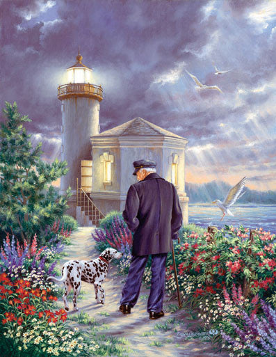 The Lighthouse Keeper Jigsaw Puzzle 1,000+ Pieces Dona Gelsinger - Mr Puzzle Head