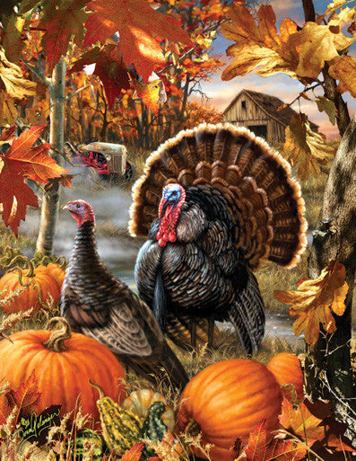 Gobbler Farms Jigsaw Puzzle 1,000+ Pieces Dona Gelsinger - Mr Puzzle Head