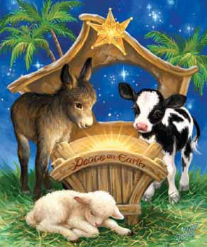 Born in a Manger Jigsaw Puzzle 200 Pieces Dona Gelsinger - Mr Puzzle Head