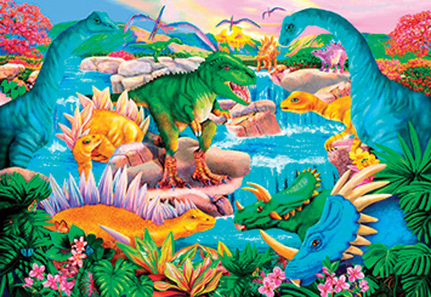Prehistoric Waterfall Jigsaw Puzzle 100 Pieces Mary Thompson - Mr Puzzle Head