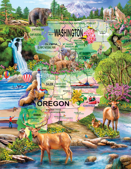 Pacific Northwest Adventure Jigsaw Puzzle 1,000+ Pieces Mary Thompson - Mr Puzzle Head