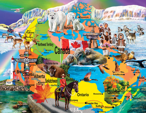 Canadian Horizons Jigsaw Puzzle 1,000+ Pieces Mary Thompson - Mr Puzzle Head