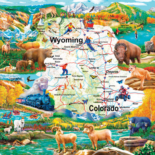 Rocky Mountain Vista Jigsaw Puzzle 1,000 Pieces Mary Thompson - Mr Puzzle Head