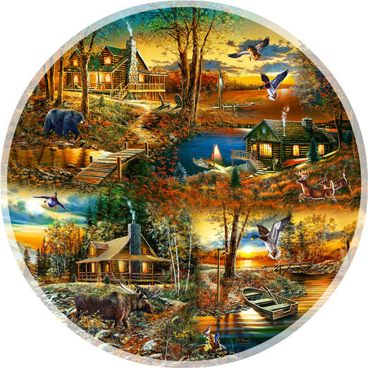 Cabins in the Woods Jigsaw Puzzle