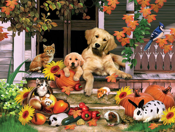 Autumn on the Porch Jigsaw Puzzle  Howard Robinson - Mr Puzzle Head