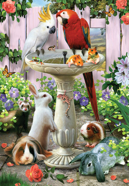 Bird Bath Jigsaw Puzzle