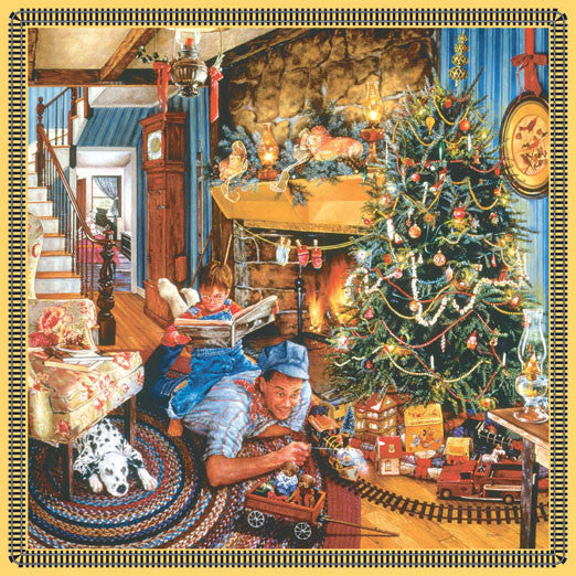 Father's Christmas Train Jigsaw Puzzle 500 Pieces Susan Brabeau - Mr Puzzle Head