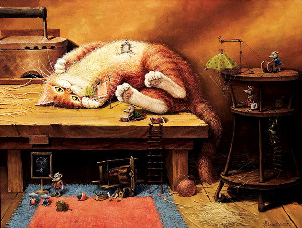 Cat Nap Jigsaw Puzzle 500 Pieces Alexander Maskaev - Mr Puzzle Head