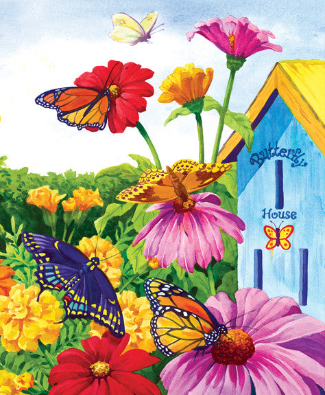 Butterfly Homecoming Jigsaw Puzzle 1,000 Pieces Nancy Wernersbach - Mr Puzzle Head