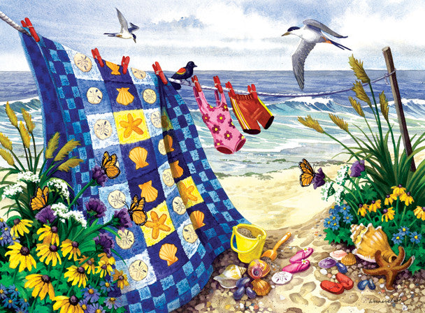 Seaside Summer Jigsaw Puzzle 500+Pieces Nancy Wernersbach - Mr Puzzle Head