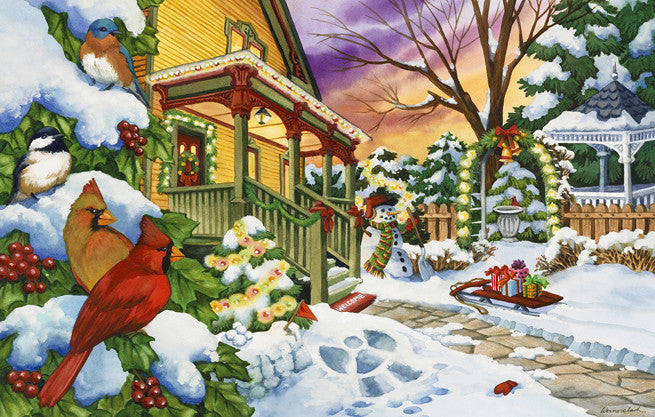 Winter Evening Jigsaw Puzzle 100 Pieces Nancy Wernersbach - Mr Puzzle Head