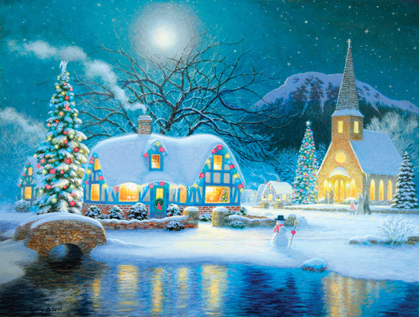 Country Snowfall Jigsaw Puzzle