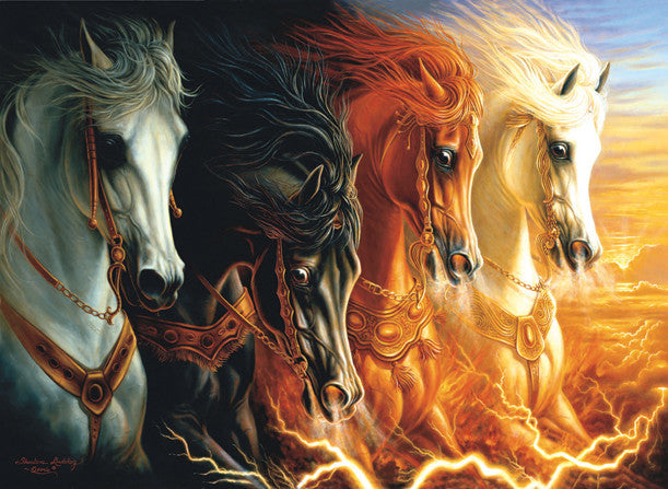 Four Horses of the Apocalypse Jigsaw Puzzle 1,500 Pieces Sharlene Osorio - Mr Puzzle Head