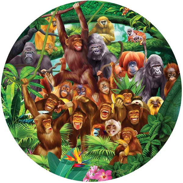 Monkey Lane Jigsaw Puzzle 100 Pieces Michael Searle - Mr Puzzle Head