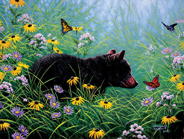 Black Bear and Butterflies Jigsaw Puzzle 500 Pieces Abraham Hunter - Mr Puzzle Head