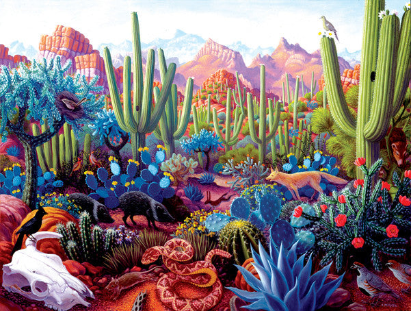 Cactusland Jigsaw Puzzle 1,000 Pieces Stephen Morath - Mr Puzzle Head
