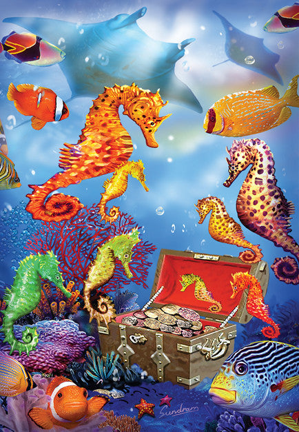Seahorse Treasure Jigsaw Puzzle 100 Pieces Steve Sundram - Mr Puzzle Head