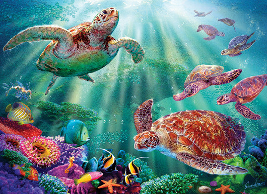 Turtle Voyage Jigsaw Puzzle 500+Pieces Steve Sundram - Mr Puzzle Head