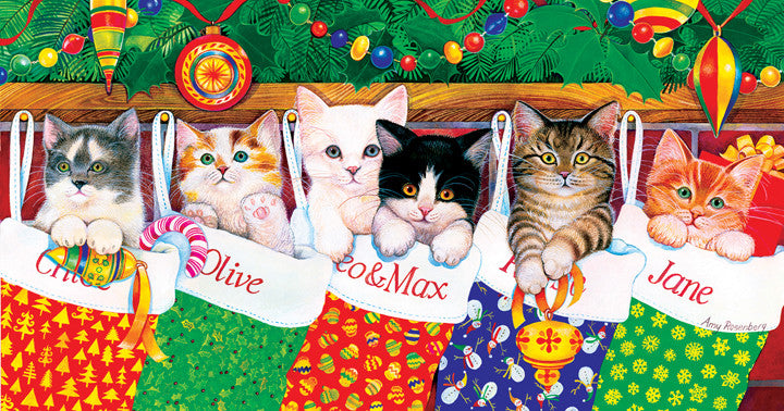 Stocking Kittens Jigsaw Puzzle 500 Pieces Amy Rosenberg - Mr Puzzle Head
