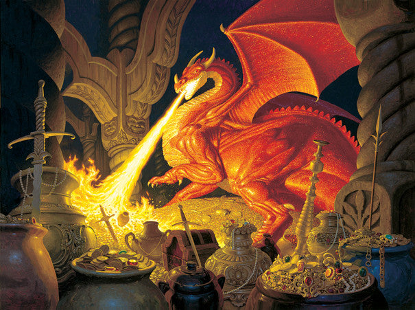 Smaug Dragon Jigsaw Puzzle 1,000 Pieces Greg Hildebrandt - Mr Puzzle Head