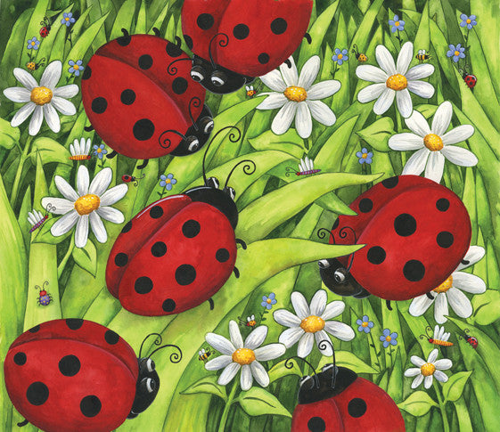 Lady Bugs Jigsaw Puzzle 200 Pieces Debbie Hron - Mr Puzzle Head
