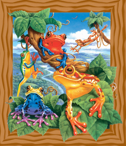 Frogs Jigsaw Puzzle 200 Pieces Corbert Gauthier - Mr Puzzle Head