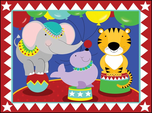 Birthday Circus Jigsaw Puzzle 63 Pieces Tracy Flickinger - Mr Puzzle Head