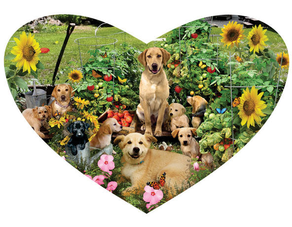 Puppy Heart Jigsaw Puzzle 200 Shaped Pieces Lori Schory - Mr Puzzle Head