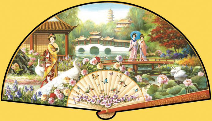 Japanese Garden Jigsaw Puzzle 1,000 Shaped Pieces T.C. Chui - Mr Puzzle Head