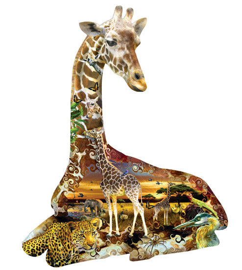 African Sports Jigsaw Puzzle 700 Shaped Pieces Lori Schory - Mr Puzzle Head