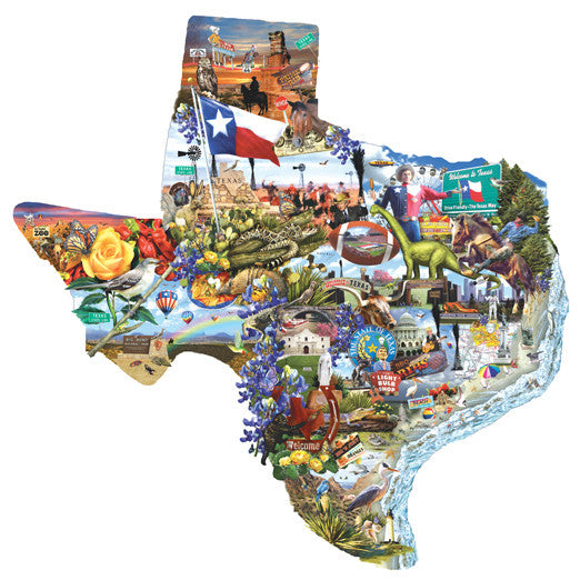 Welcome to Texas Jigsaw Puzzle 1,000 Shaped Pieces Lori Schory - Mr Puzzle Head