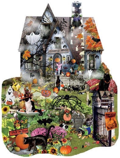 Spooky House Jigsaw Puzzle 1,000 Shaped Pieces Lori Schory - Mr Puzzle Head