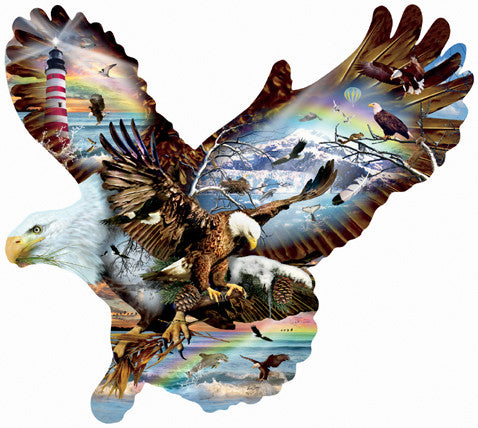 Eagle Eyes Jigsaw Puzzle 1,000 Shaped Pieces Lori Schory - Mr Puzzle Head