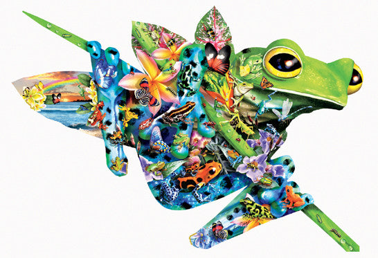 Paradise Frogs Jigsaw Puzzle 1,000 Shaped Pieces Lori Schory - Mr Puzzle Head