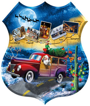 Santa's Highway Jigsaw Puzzle 1,000 Shaped Pieces Jim Todd - Mr Puzzle Head