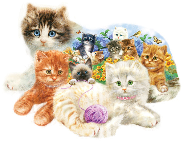 A Litter of Kittens Jigsaw Puzzle 1,000 Shaped Pieces Giordano Studios - Mr Puzzle Head