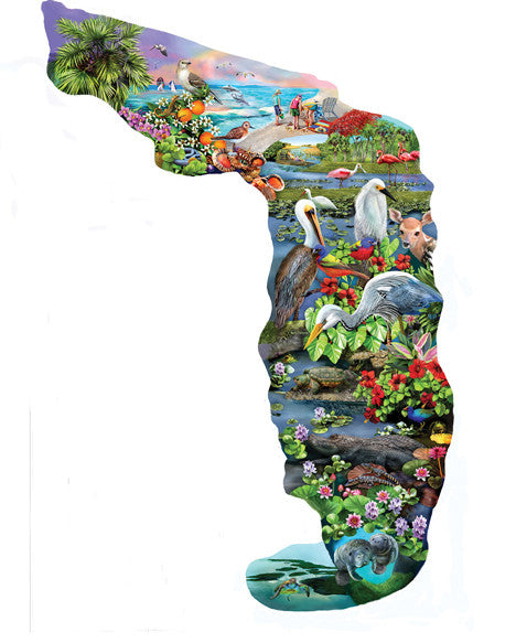 Florida Wildlife Jigsaw Puzzle 845 Shaped Pieces Mary Thompson - Mr Puzzle Head